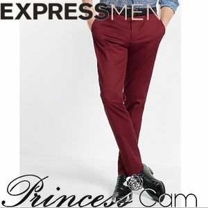 🆕Express Men Burgundy Innovator Dress Pants